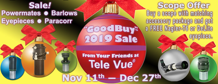"Tele Vue ""GoodBuy 2019""  Sale!"