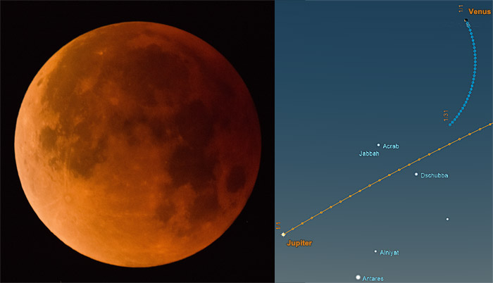 Don't Miss the Lunar Eclipse & Jupiter / Venus Conjunction!