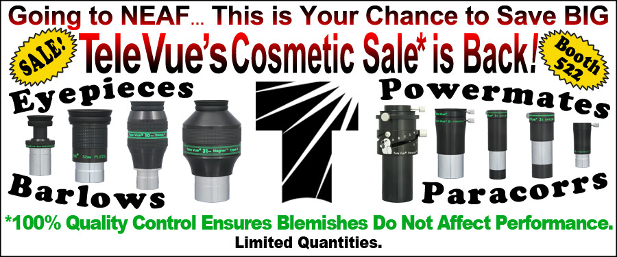 NEAF: Tele Vue's Cosmetic Sale is Back!
